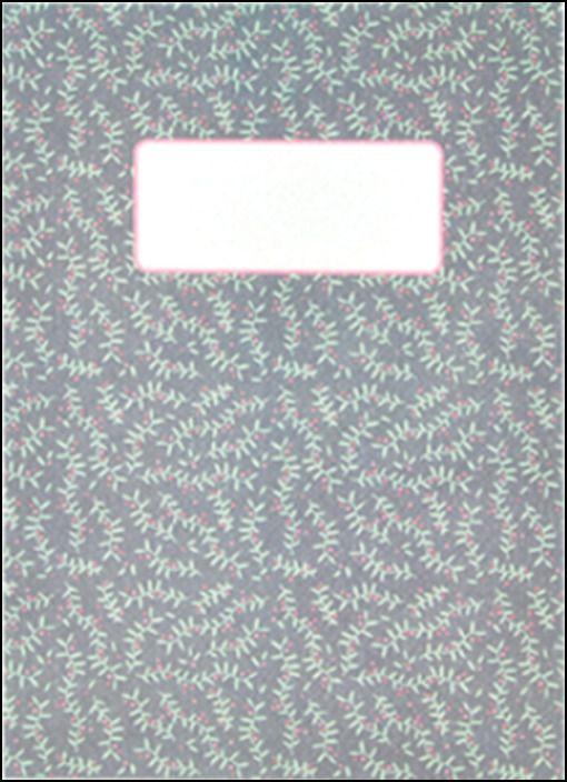 Caderno - Castanho Floral