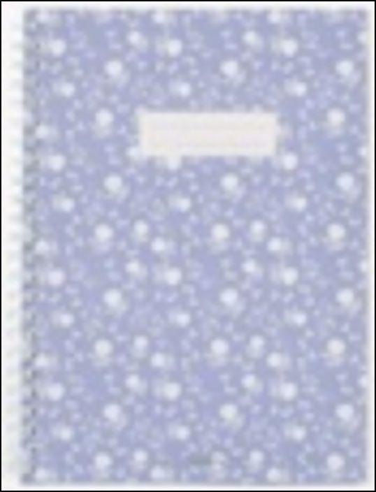 Caderno com Janela - Azul