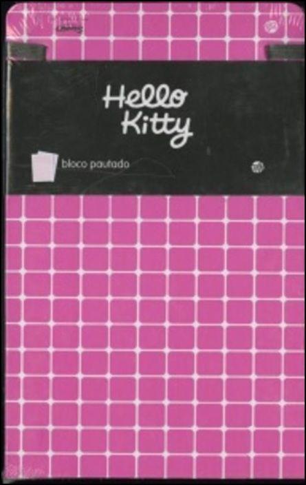Hello Kitty - Bloco grande pautado (Gama Fashion)