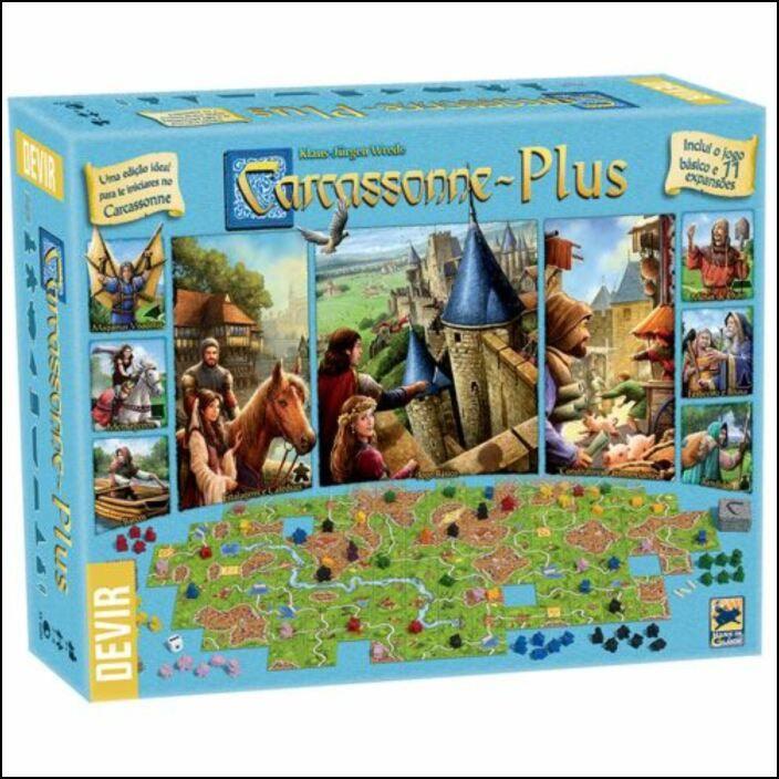 Carcassonne Plus - Jogo de Tabuleiro