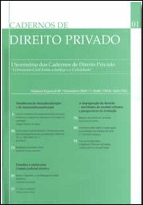 Cadernos de Direito Privado N.º 01 - Especial Dezembro 2010