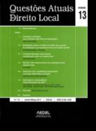 Questões Atuais de Direito Local N.º13