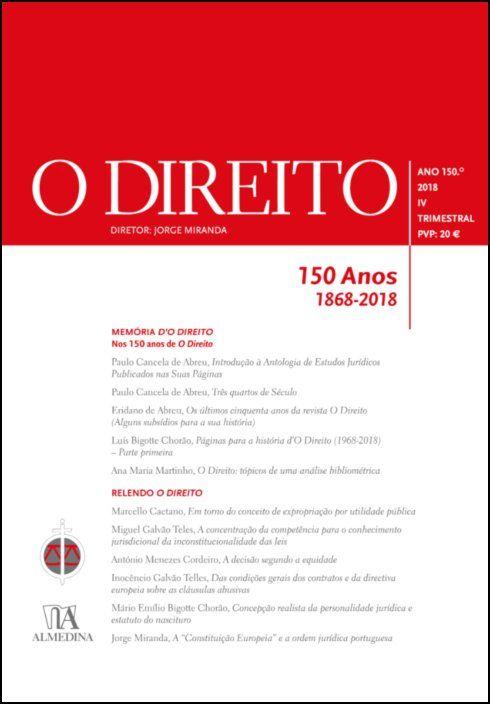O Direito - Ano 150º - IV - 2018