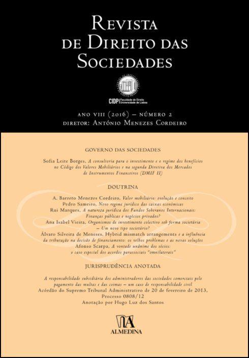 Revista de Direito das Sociedades, Ano VIII (2016) - Número 2