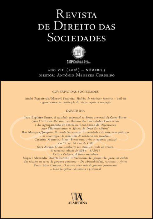Revista de Direito das Sociedades, Ano VIII (2016) - Número 3