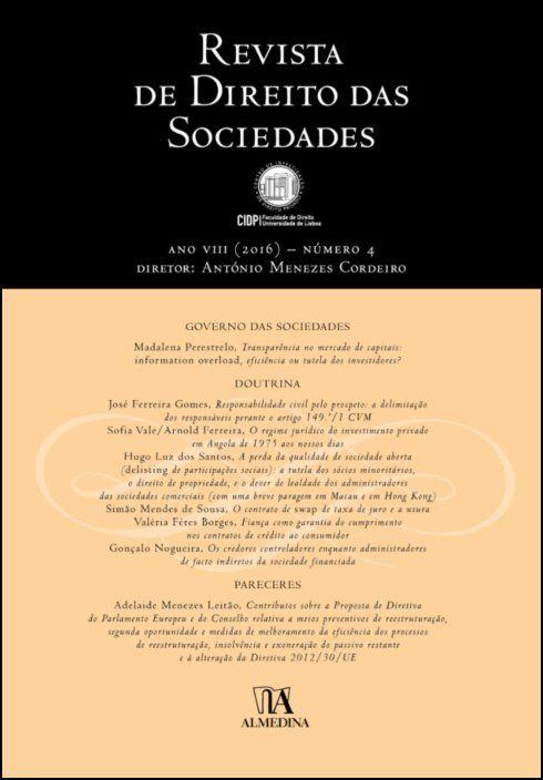Revista de Direito das Sociedades, Ano VIII (2016) - Número 4