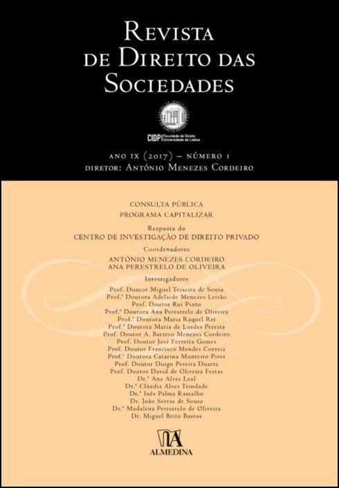 Revista de Direito das Sociedades, Ano IX (2017) - Número 1