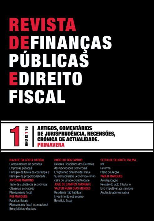 Revista de Finanças Públicas e Direito Fiscal - Ano IX - Número 1 - Primavera