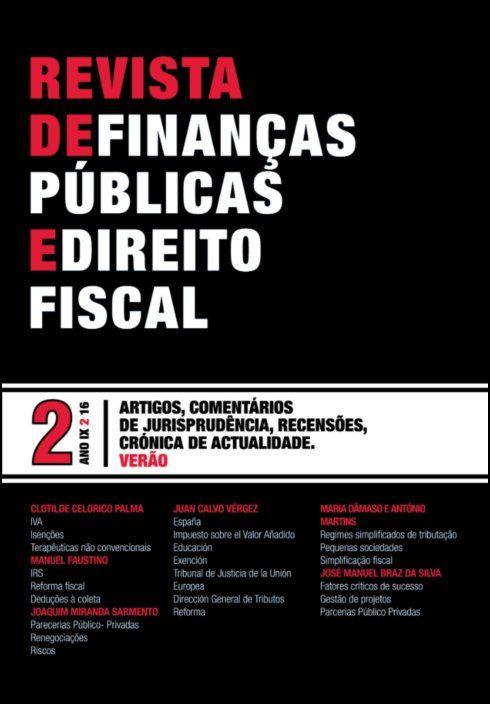 Revista de Finanças Públicas e Direito Fiscal - Ano IX - Número 2 - Verão