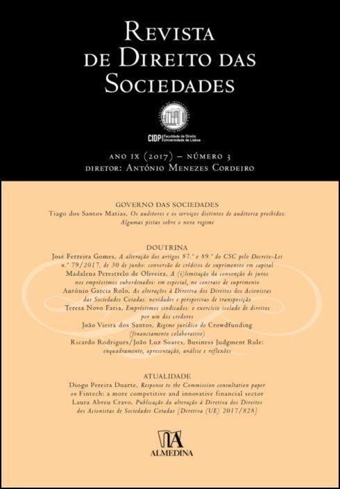 Revista de Direito das Sociedades, Ano IX (2017) - Número 3