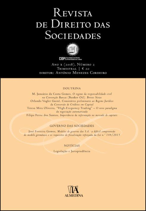 Revista de Direito das Sociedades, Ano X (2018) - Número 2