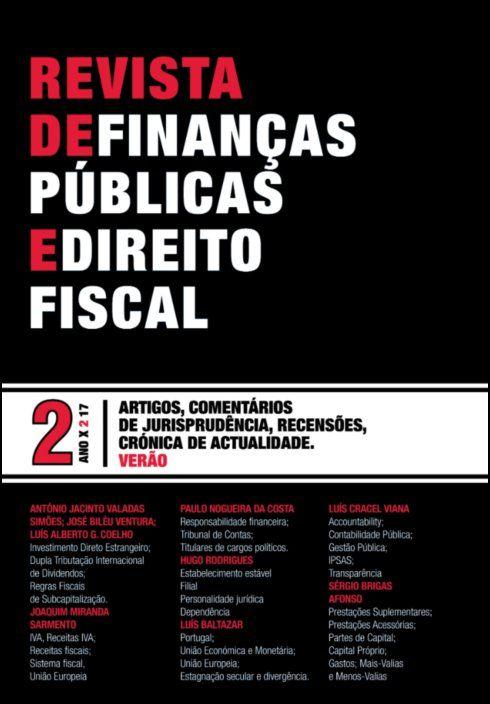 Revista de Finanças Públicas e Direito Fiscal - Ano X - Número 2 - Verão