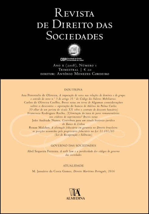 Revista de Direito das Sociedades, Ano X (2018) - Número 1