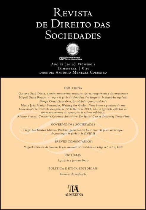Revista de Direito das Sociedades, Ano XI (2019) - Número 1