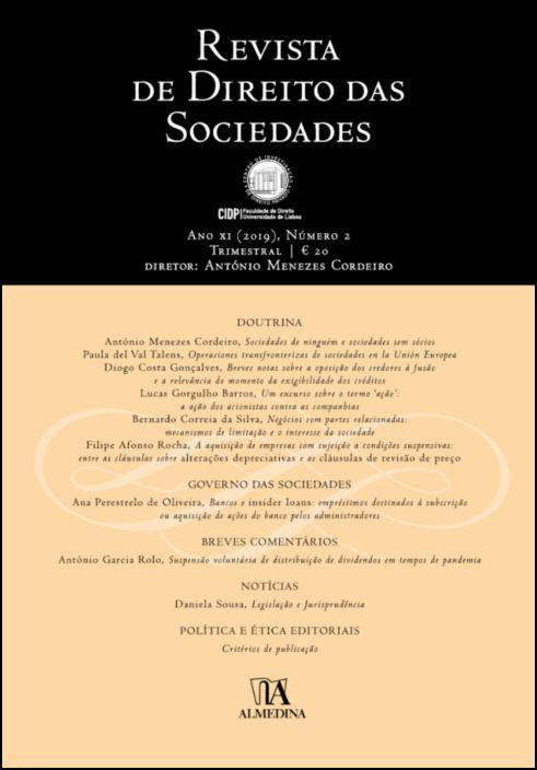 Revista de Direito das Sociedades, Ano XI (2019) - Número 2