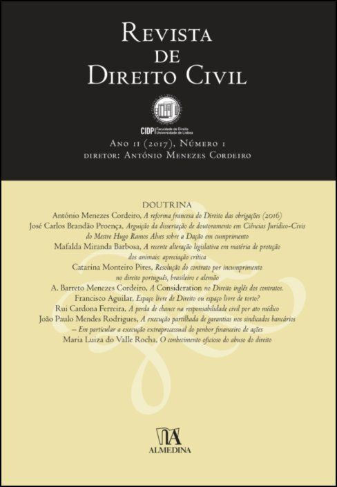Revista de Direito Civil n.º 1 (2017)