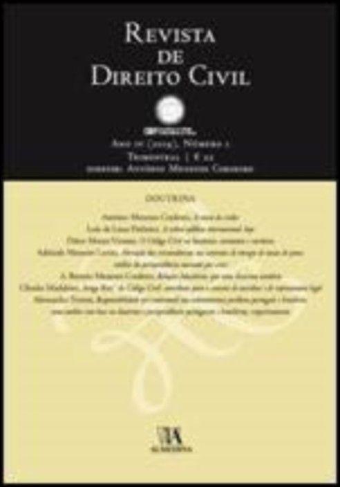 Revista de Direito Civil n.º 1 (2019)