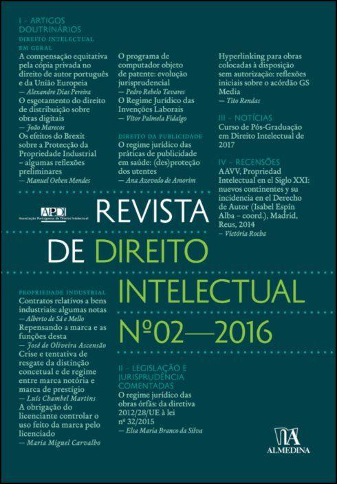 Revista de Direito Intelectual n.º 2 - 2016