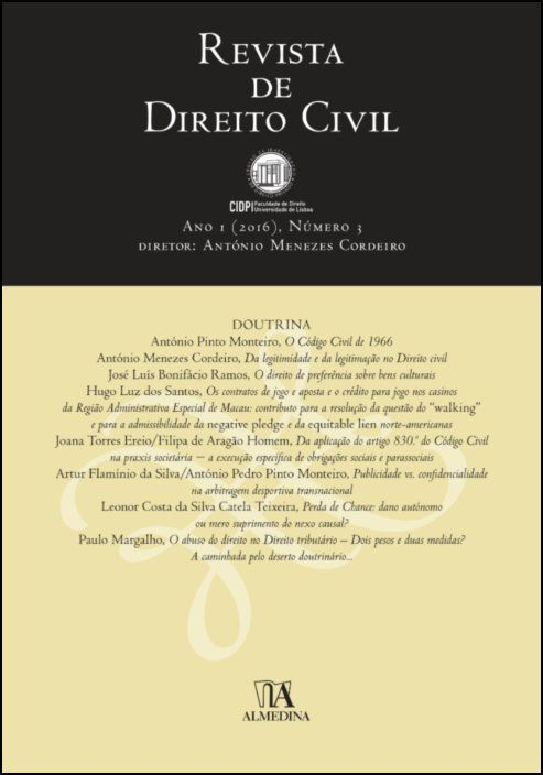 Revista de Direito Civil n.º 3 (2016)
