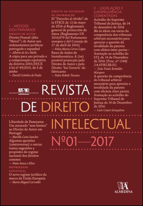 Revista de Direito Intelectual n.º 1 - 2017