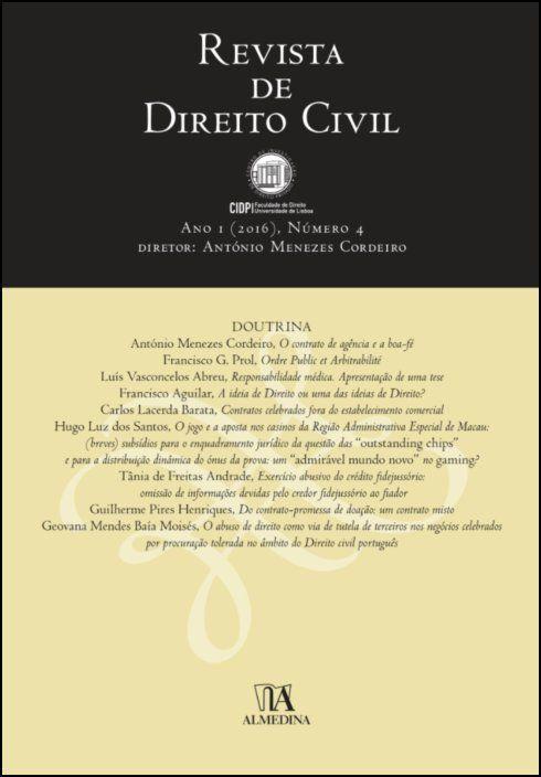 Revista de Direito Civil n.º 4 (2016)