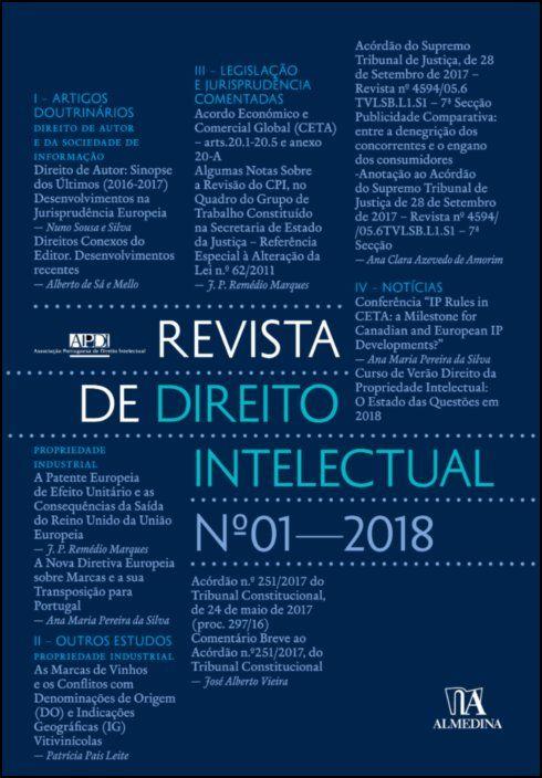 Revista de Direito Intelectual n.º 1 - 2018
