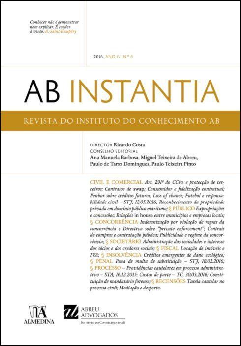 AB Instantia - 2016, Ano IV, n.º 6, Anual