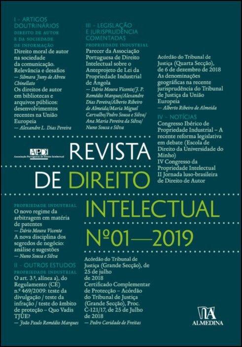 Revista de Direito Intelectual n.º 1 - 2019