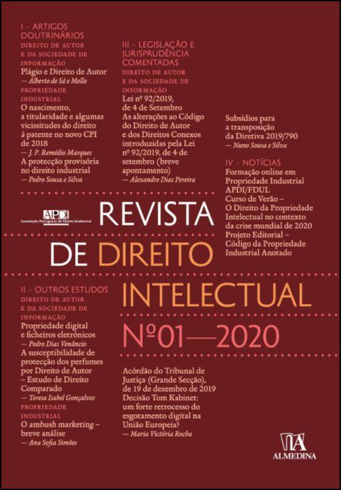 Revista de Direito Intelectual n.º 1 - 2020