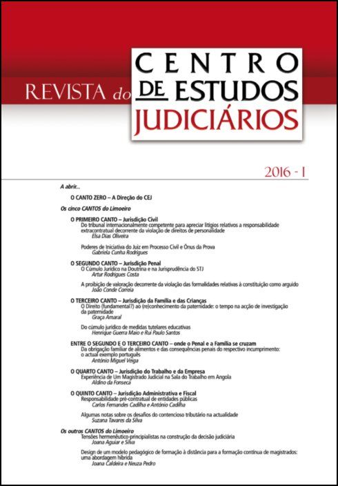 Revista do CEJ n.º 1 de 2016