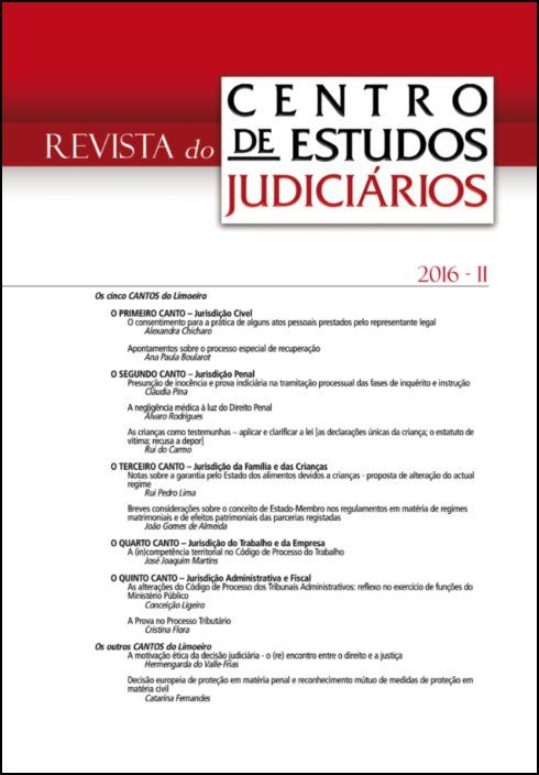 Revista do CEJ n.º 2 de 2016