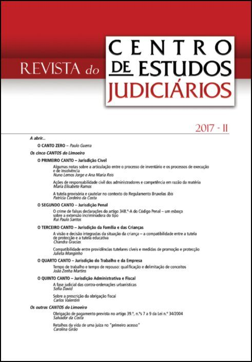 Revista do CEJ n.º 2 de 2017
