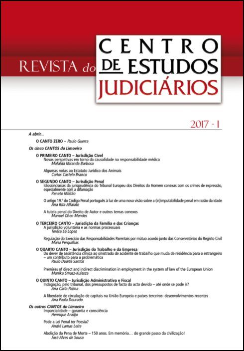 Revista do CEJ n.º 1 de 2017