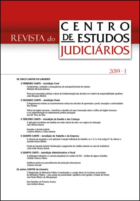 Revista do CEJ n.º 1 - 2019