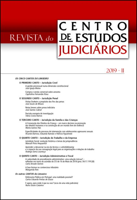Revista do CEJ n.º 2 - 2019
