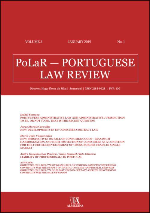 PoLaR Portuguese Law Review - vol. 3 - n.º 1