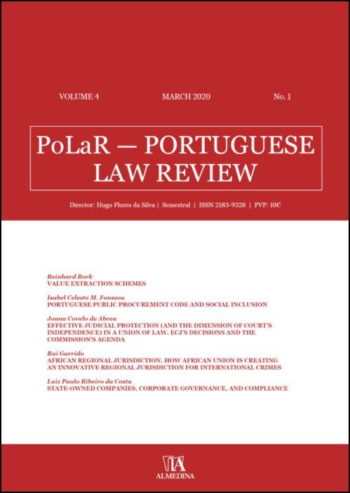 PoLaR Portuguese Law Review - vol. 4 - n.º 1