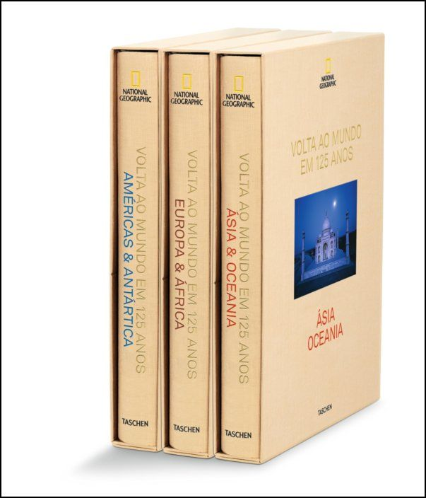 National Geographic. Volta ao Mundo em 125 Anos - 3 Volumes