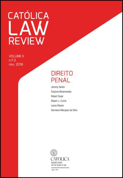 Católica Law Review - Volume II N.º3 - Direito Penal