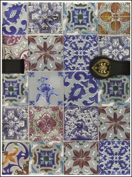 Caderno Azulejos de Portugal Flores