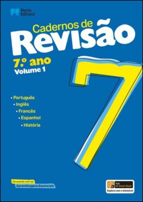 Cadernos de Revisão - 7.º Ano - Volume 1