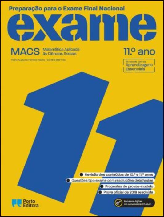 Preparação para o Exame Final Nacional - MACS - Matemática Aplicada às Ciências Sociais - 11.º Ano