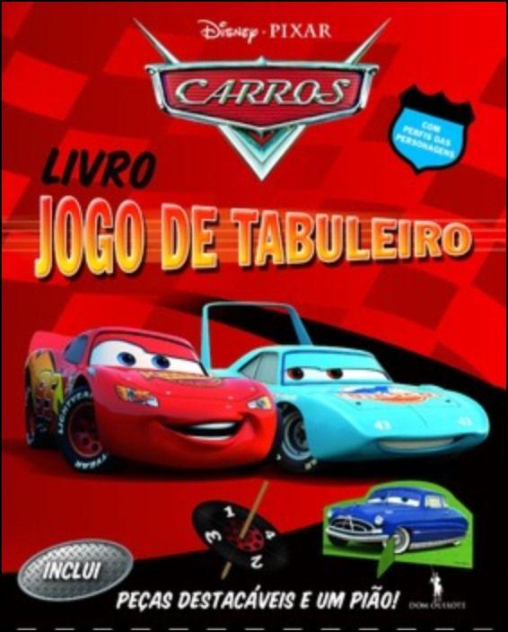 Carros: Livro Jogo Tabuleiro