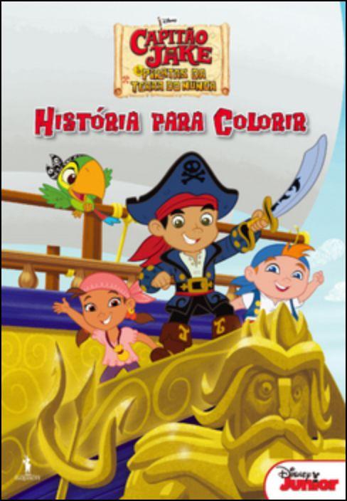 Capitão Jake e os Piratas da Terra do Nunca - História Para Colorir