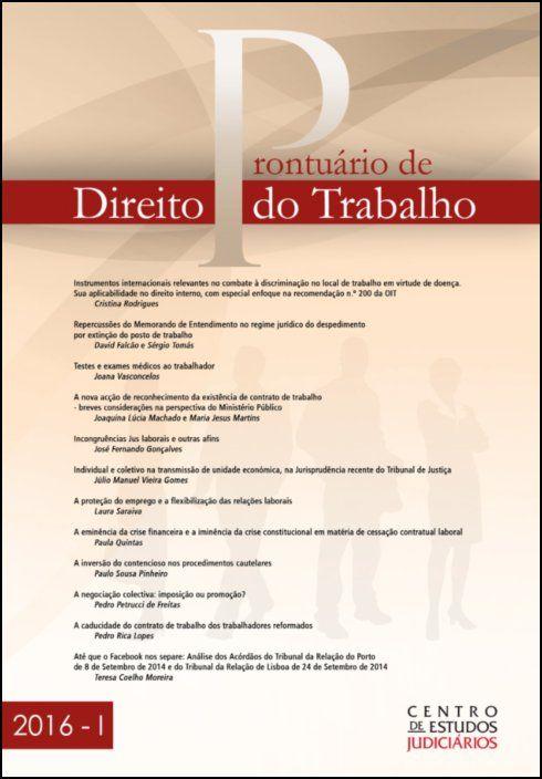 Prontuário de Direito do Trabalho I 2016