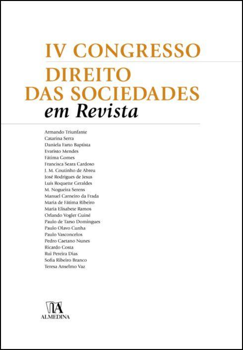 IV Congresso Direito das Sociedades em Revista