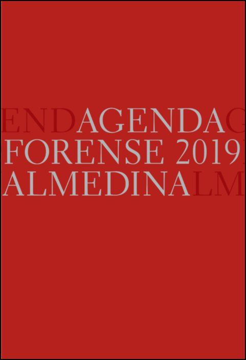 Agenda Forense 2019 (Vermelho)