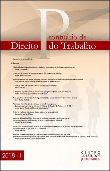 Prontuário de Direito do Trabalho II 2018