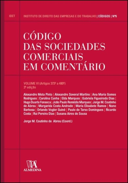 Código das Sociedades Comerciais em Comentário volume VI