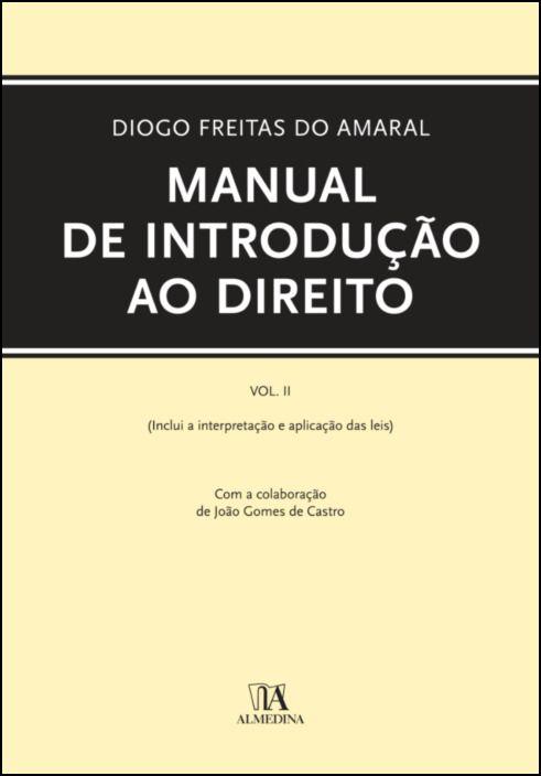 Manual de Introdução ao Direito - Volume II
